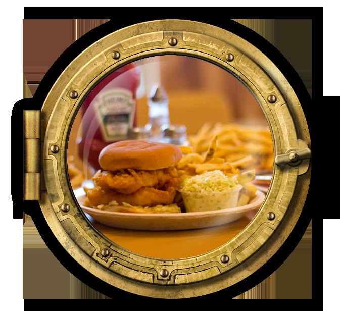 Friday Specials Fish Burger Platter
