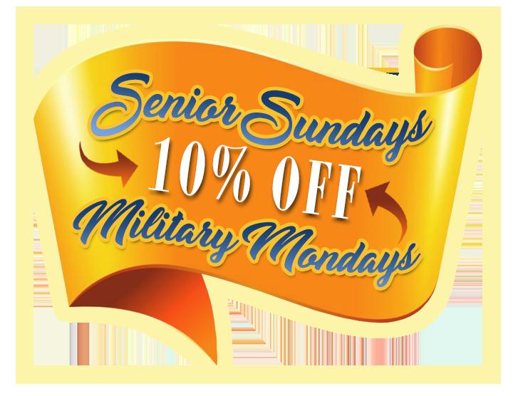 Senior Military Discount